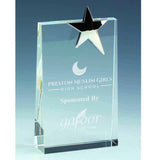KK376 - Premium Upright Crystal Wedge Glass Award