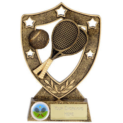 N01033 - Shield Star Tennis Trophy (2 Sizes)