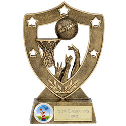 N01036 - Shield Star Netball Trophy