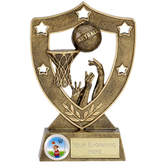 N01036 - Shield Star Netball Trophy (2 Sizes)