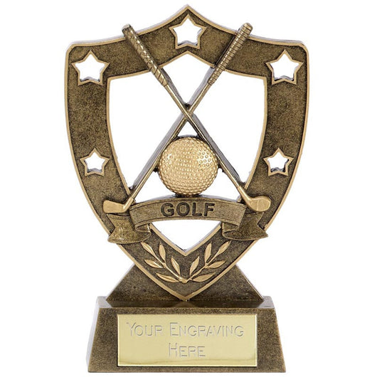 Shield Star Golf Trophy