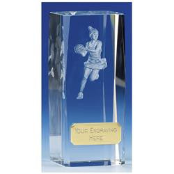 OK038 - Clarity Glass Netball Trophy
