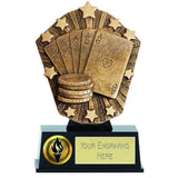 PK246 - Cosmos Mini Poker Trophy (12.5cm)