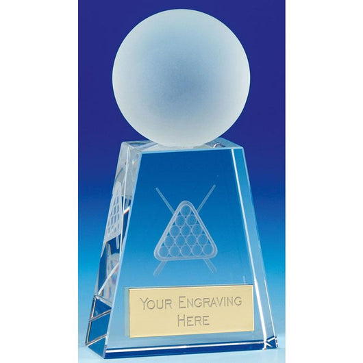 KK319A - Sherwood Glass Pool/Snooker Trophy (15cm)