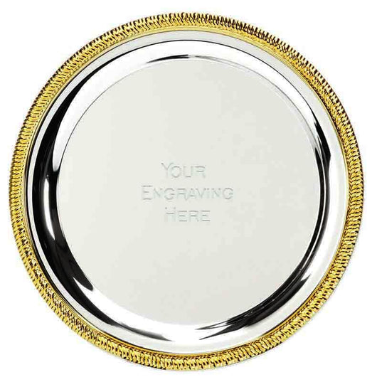 T040 - Vortex nickel plated salver (4 Sizes)