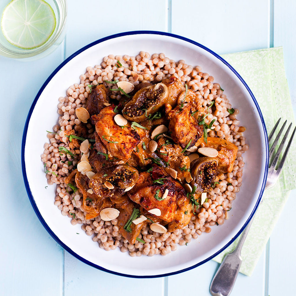 MOROCCAN CHICKEN WITH FIGS & ALMONDS