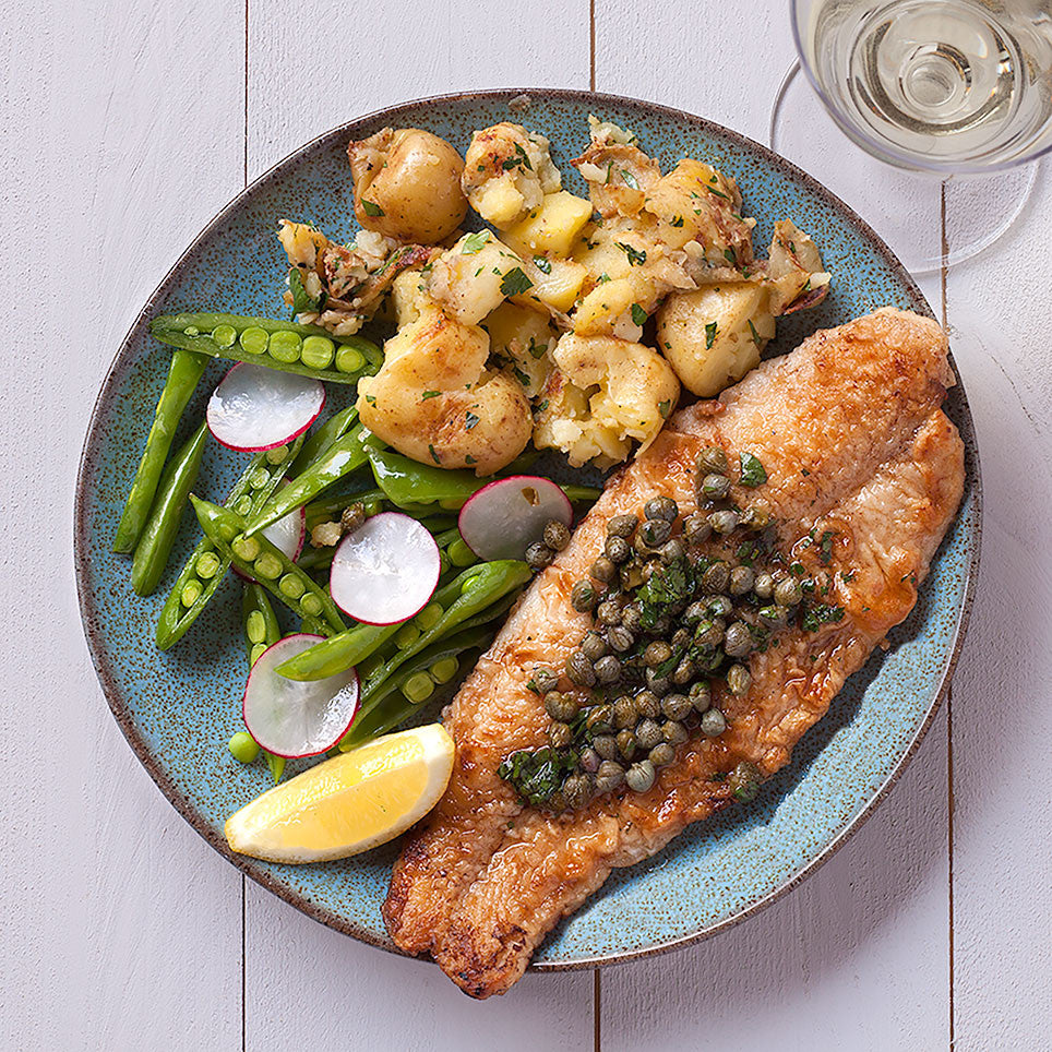 FISH À LA MEUNIÈRE WITH LEMON & CAPERS