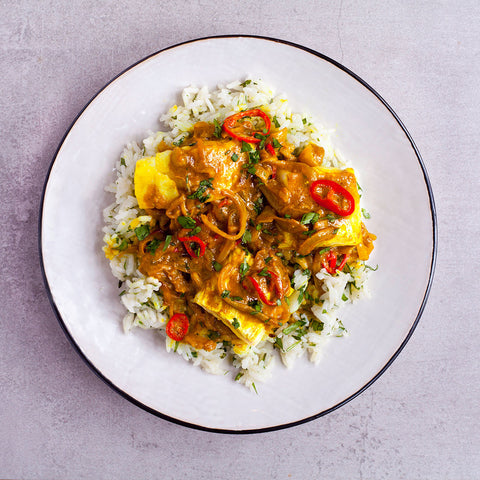 GOAN FISH CURRY WITH CORIANDER RICE