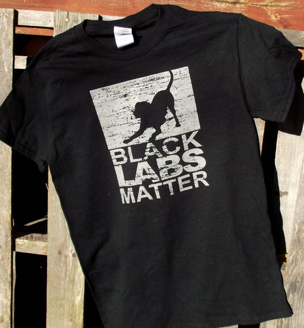 Tee Black Labs Matter Men's Black Tee