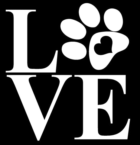 Love Paw Vinyl Decal