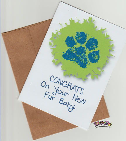 Congrats On Your New Fur Baby Greeting Card