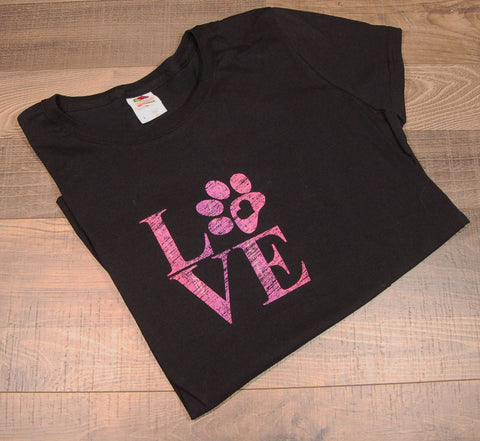 Love Paw Womens Tee
