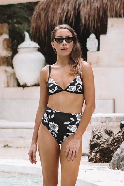 Protea Reversible High Waist Bikini Bottoms