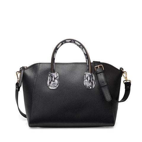 Paula black&white silver bag
