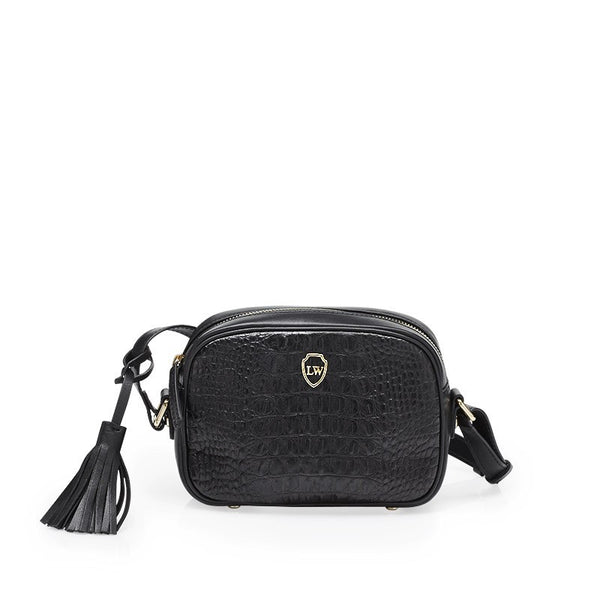 Pauca black gold bag
