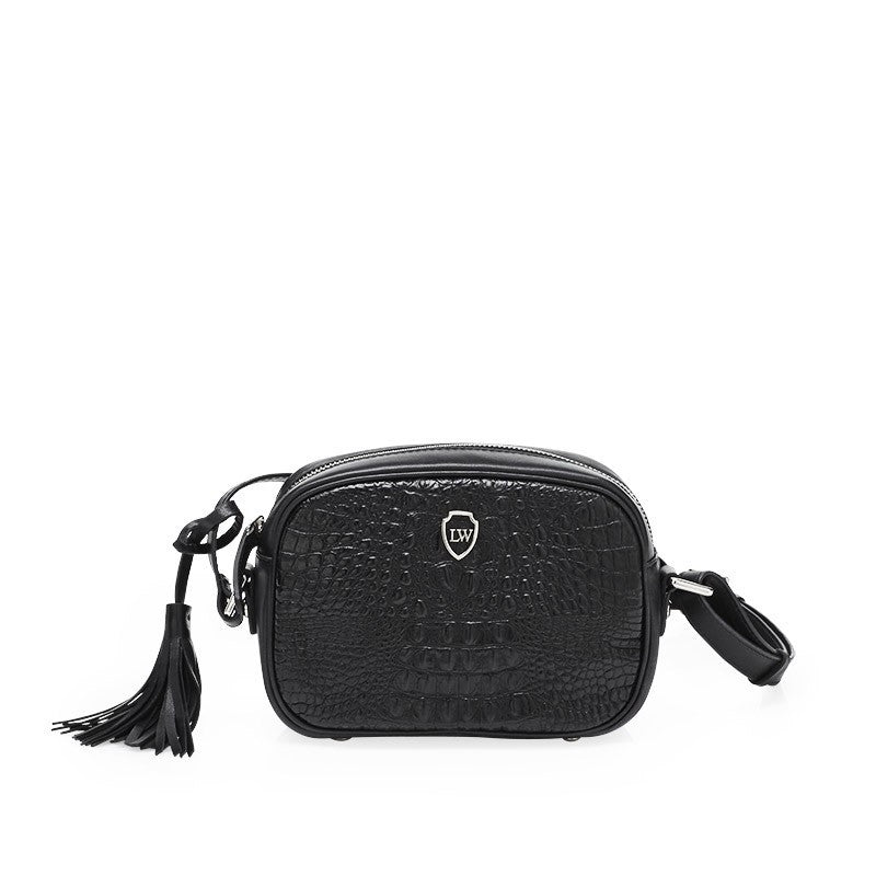 Pauca black silver bag