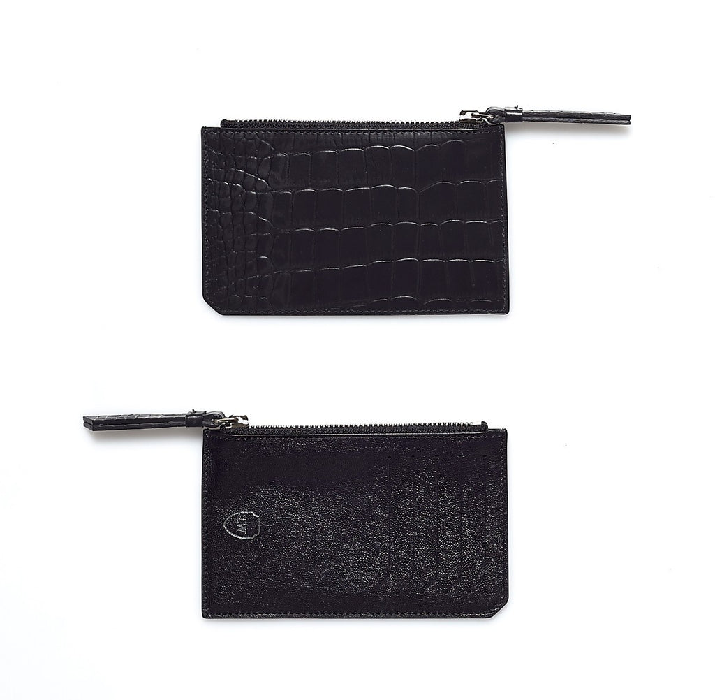 Blake black silver pocket - Leowulff