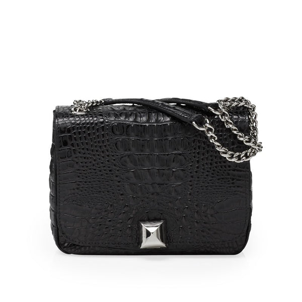 North black silver bag