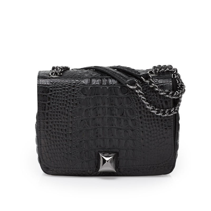 North black gunmetal bag