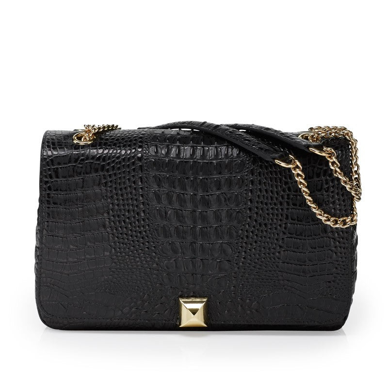 Naomi black gold bag - Leowulff