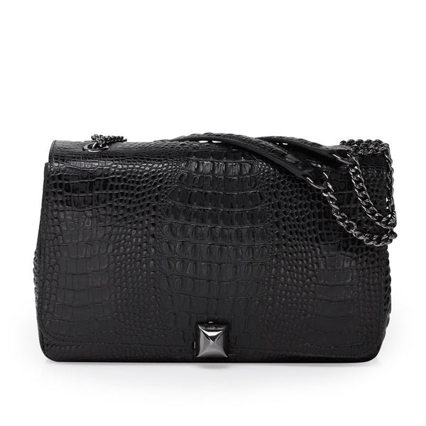 Naomi black gunmetal bag
