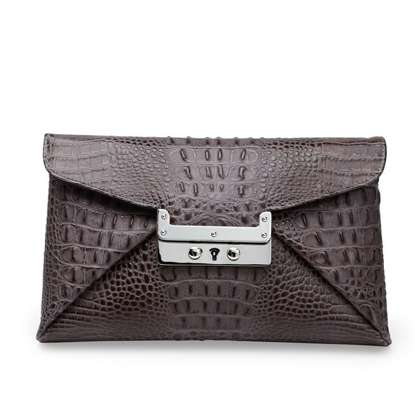Nirvana grey silver clutch