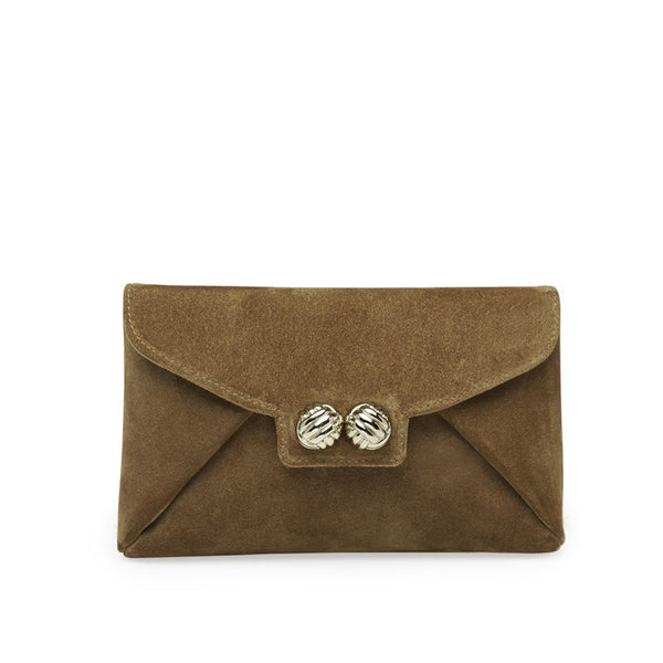 Mercer cognac gold clutch