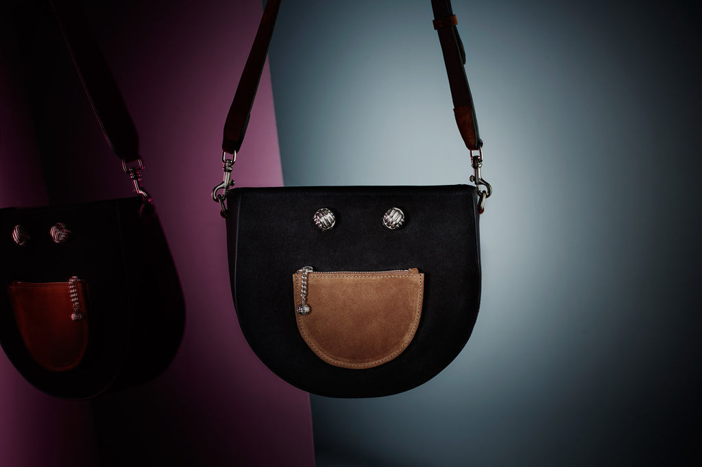 Happie black silver bag - Leowulff