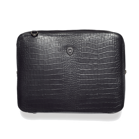Bay black silver laptop bag