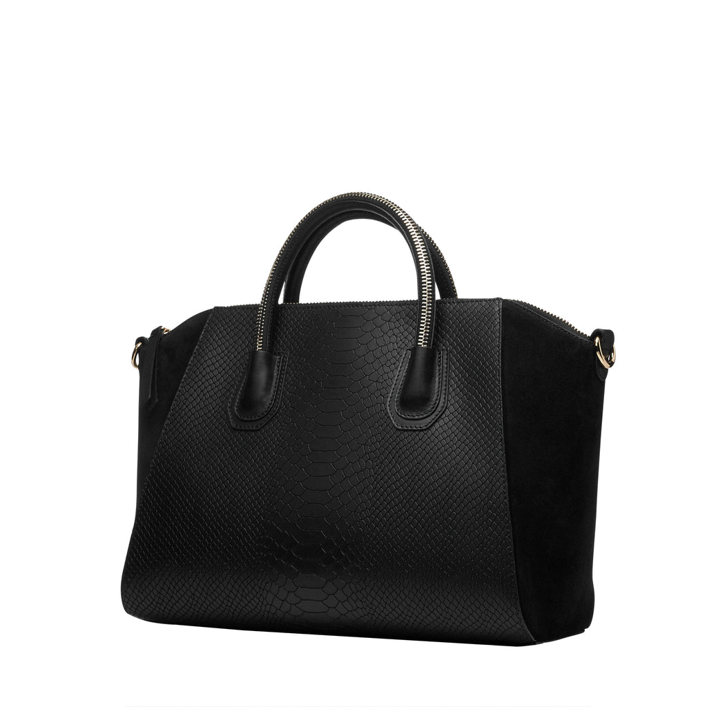 Serpent black silver bag