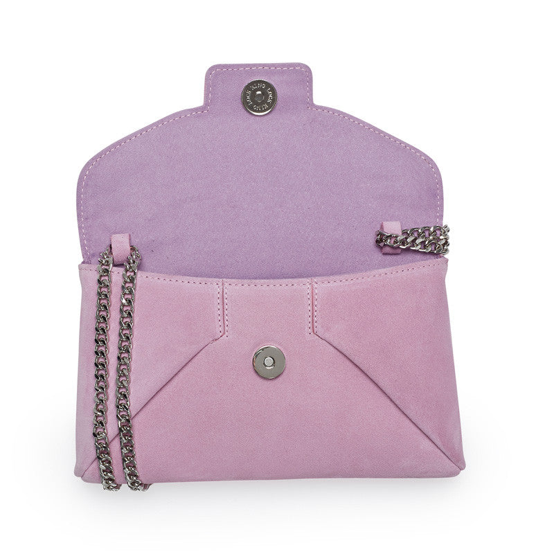 Copy of Heather pink silver clutch - Leowulff