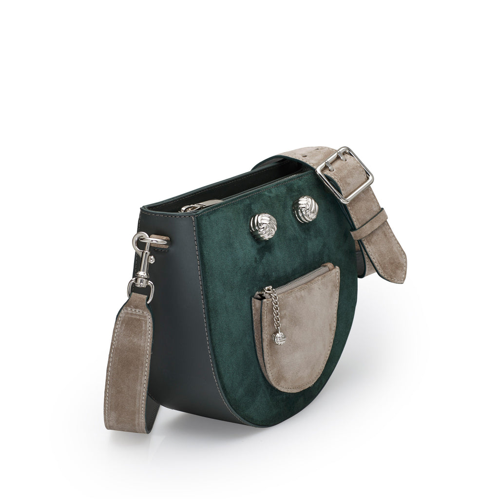Happie green silver bag