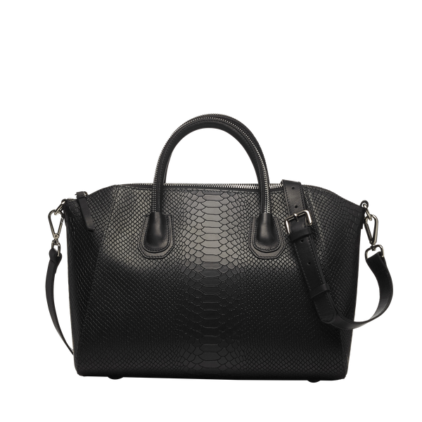 ANACONDA BLACK SILVER BAG - Leowulff