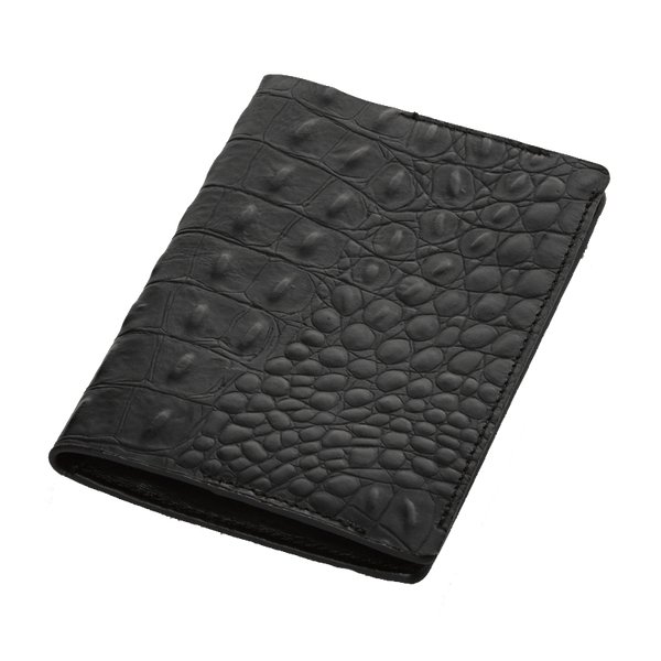 India black croco passport-holder - Leowulff