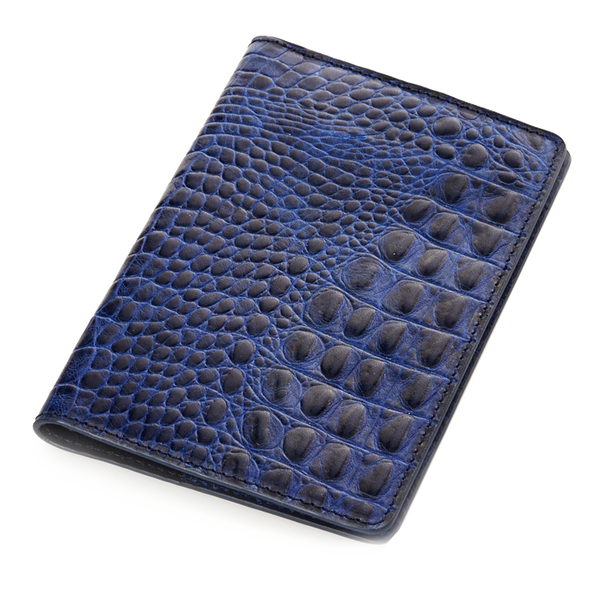 India blue croco passport-holder - Leowulff