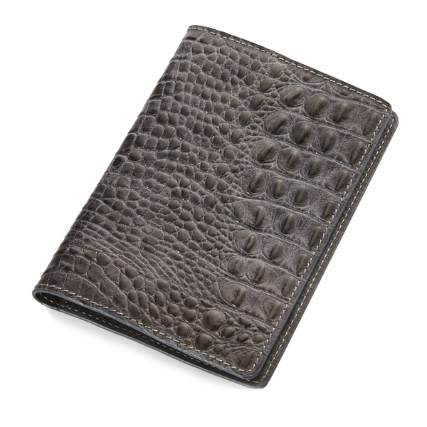 India grey croco passport-holder - Leowulff