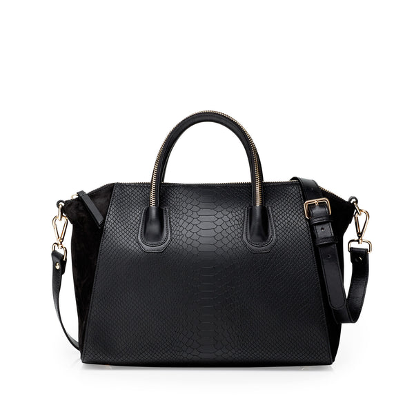 Serpent black gold bag - Leowulff