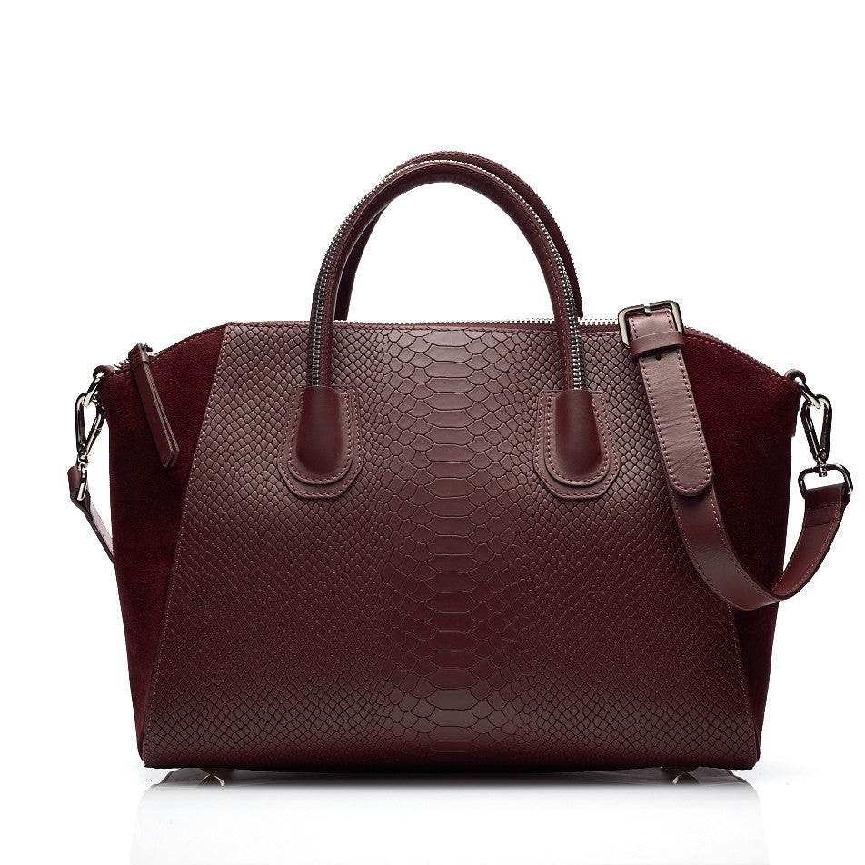 Serpent bordeaux silver bag - Leowulff