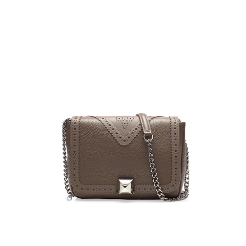 Beverly taupe silver bag