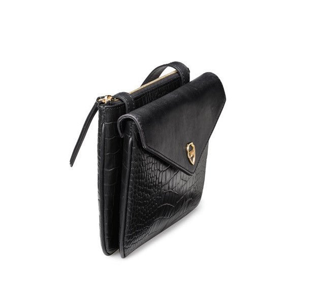 Hunter black gold bag