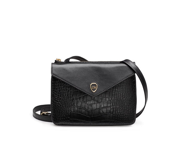 Hunter black gold bag - Leowulff