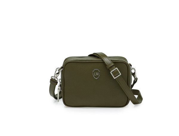 Nicole olive silver mini bag