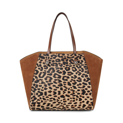 Hazel leopard gold bag