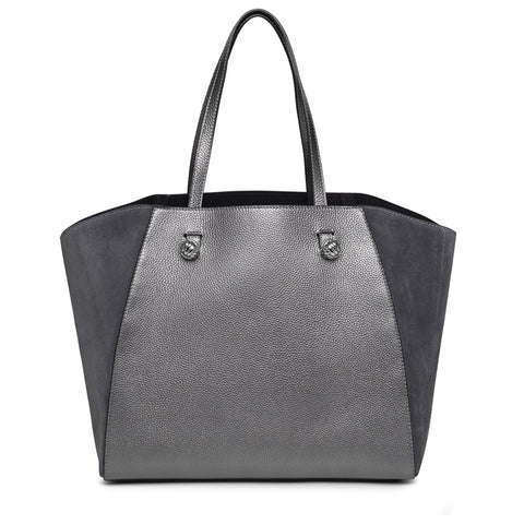 Hazel Anthracite silver bag