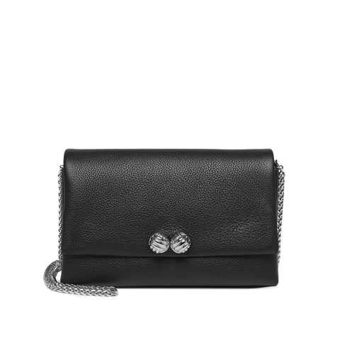 Demi black small leather bag