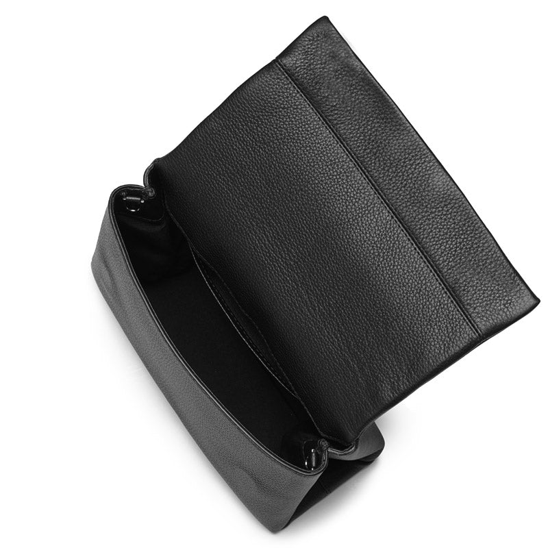 Demi black small leather bag - Leowulff
