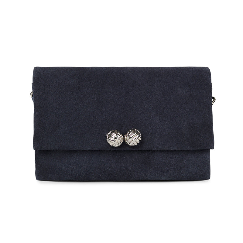 Demi blue suede bag - Leowulff