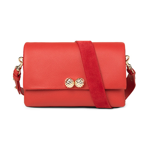 Demi red leather bag