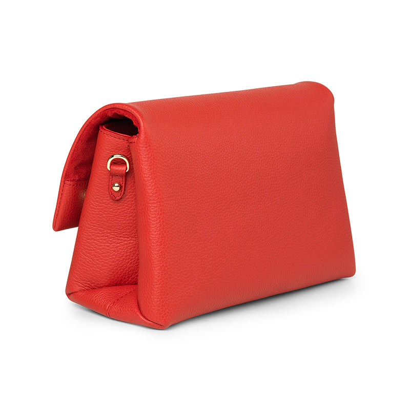 Demi red leather bag - Leowulff