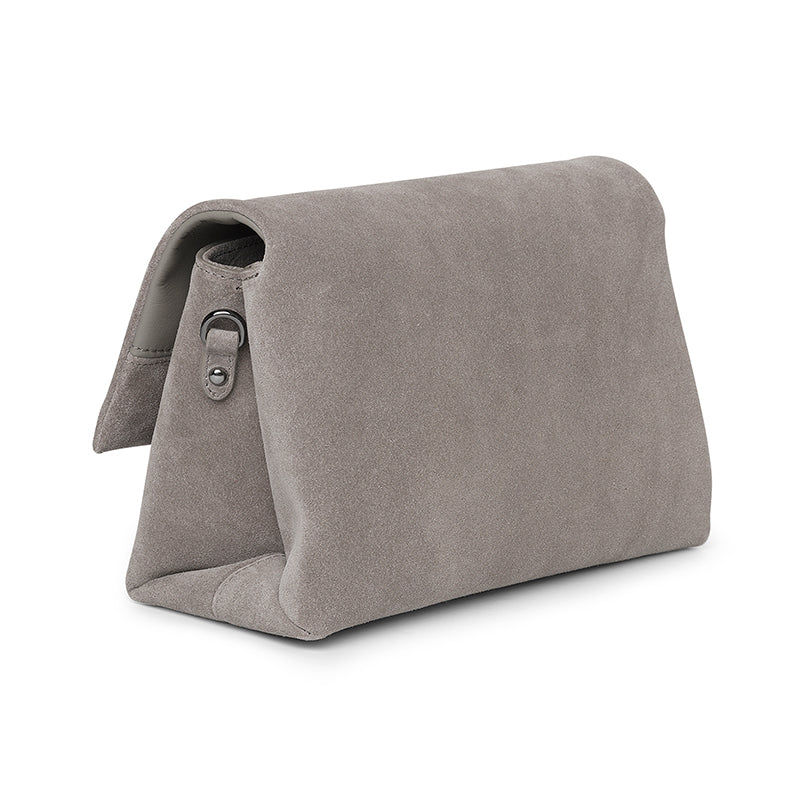 Demi taupe suede bag - Leowulff